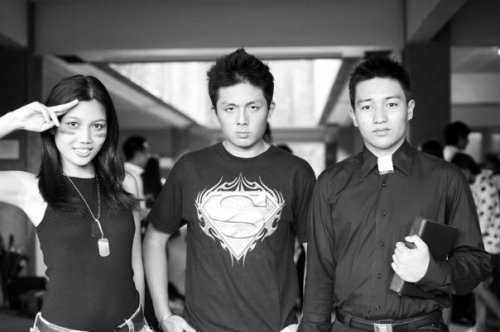 The soldier, Superman, and a priest. We all fight injustice and defend citizens in our own way!